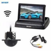 DIYKIT Wireless 4.3 Inch Car Reversing Camera Kit Backup Car Monitor LCD Display  Car Rear View Camera Parking System Kit
