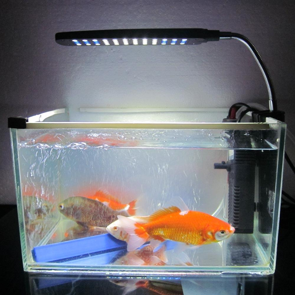 Fish Tank Water Plant 48 LEDs 3W Clip Light Lighting Lamp Flexible 2 Working Modes White & Blue Aquarium Accessories order-$18no track (2)