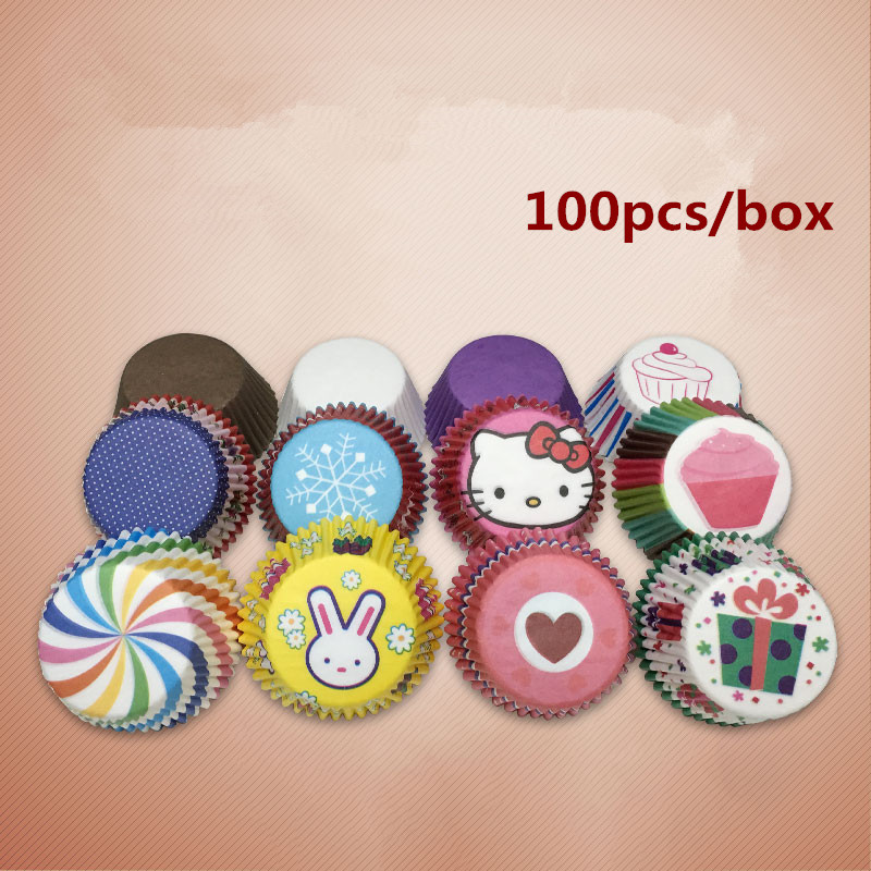 Cute,colorful cupcake liner <font><b>baking</b></font>,cupcake <font><b>paper</b></font>,muffin <font><b>cases</b></font>,cake box <font><b>Cup</b></font> tray cake mold decorating tools,with box <font><b>packing</b></font>
