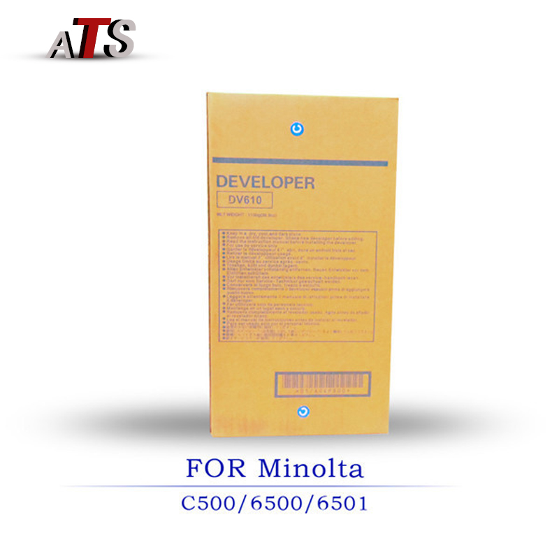 1000G Developer powder For Konica Minolta DV610 C500 C6500 C6501 Compatible toner Developer Powder Copier parts C 500 6500 6501 1pcs compatible developer for minolta 7020 7022 7030 7130 7025 copier parts