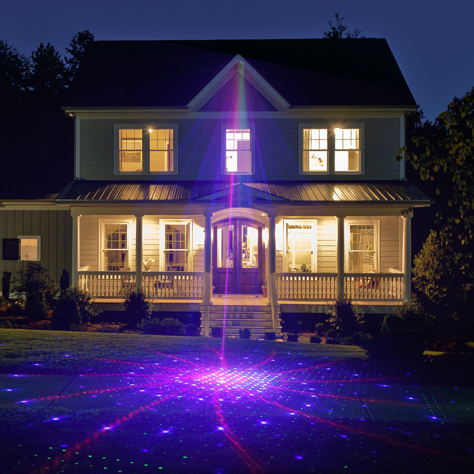 ALIEN RGB 32 Patterns Christmas Laser Projector Outdoor Light Remote Garden Waterproof IP65 Holiday Xmas Outside Shower Lighting 6