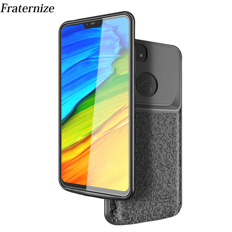Silicone Shockproof Battery Charger Case For Xiaomi Mi 8 Lite External Charger Cover Backup Power Bank Case Battery 4700mAh
