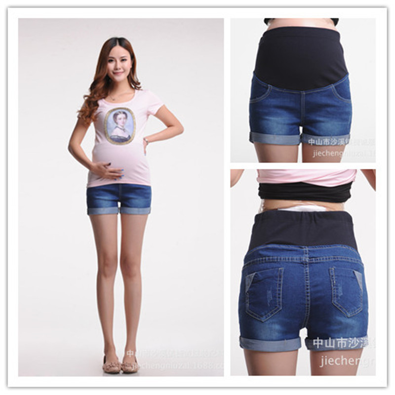 New Summer Maternity Jeans Pants Denim Shorts Pregnancy Jeans For Pregnant Women Mother's Clothes Clothing PT09 summer women fashion high waist embroidery flower denim tassel jeans shorts female floral shorts jeans for women dx8299