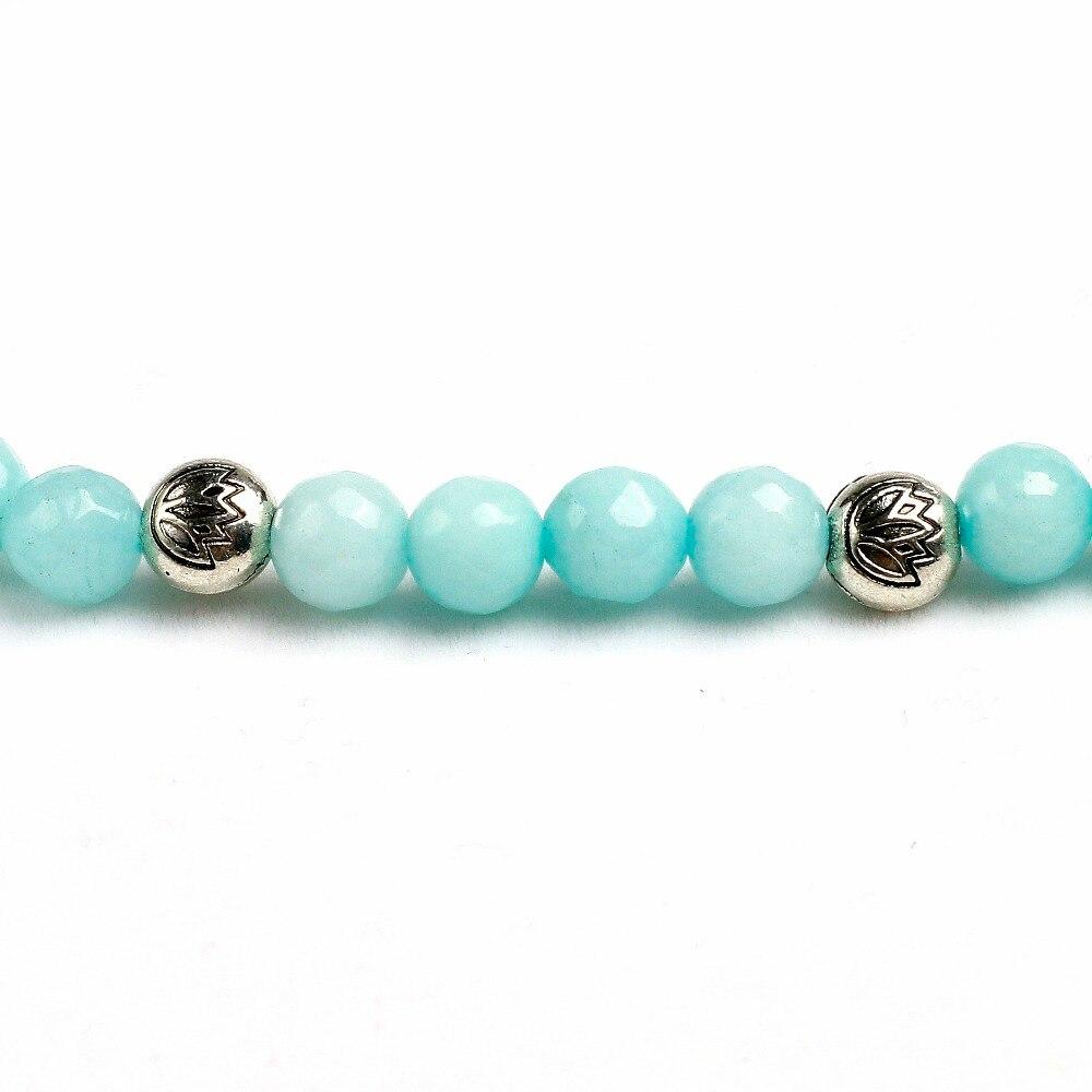 Blue Chalcedony Mala Beads 3