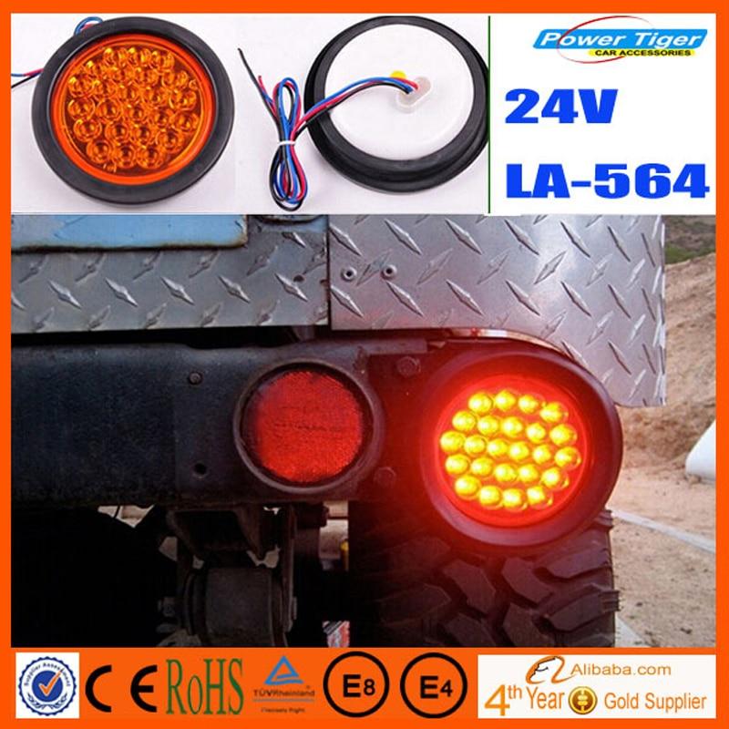 Hot sale Round Truck Trailer Lights LED Stop/Turn/Tail Light Car Led Lamp Tail Light Kits Off Road Light LED DC 24V Truck lamp