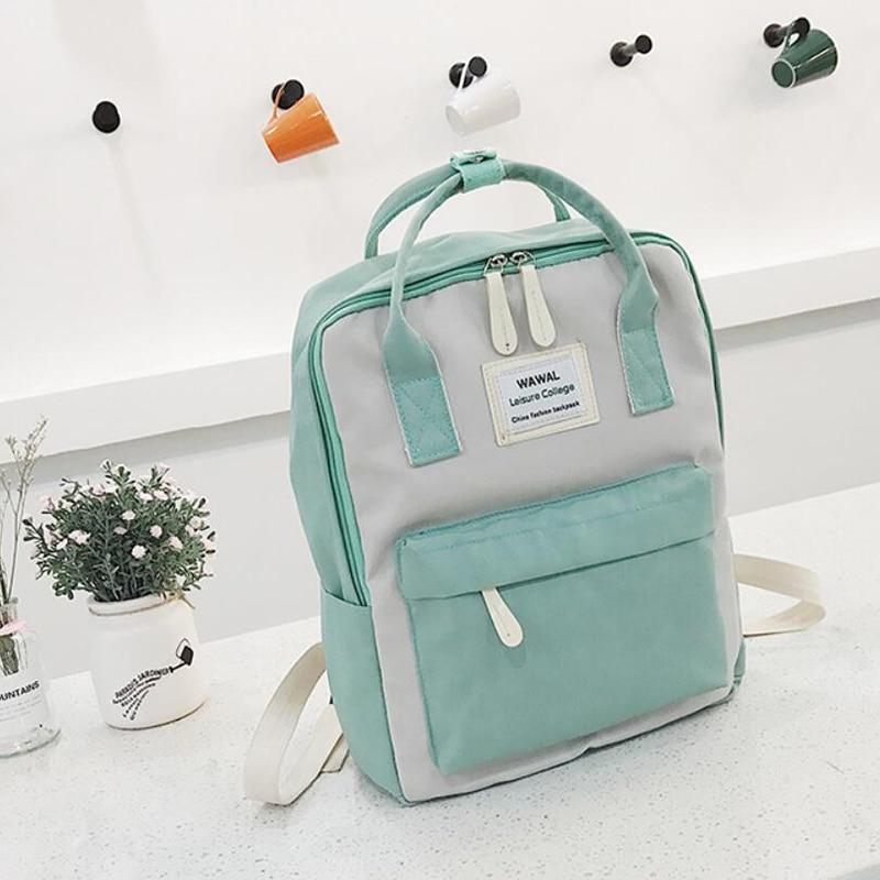 HTB1VjcQvkUmBKNjSZFOq6yb2XXa0 Yogodlns Campus Women Backpack School Bag for Teenagers College Canvas Female Bagpack 15inch Laptop Back Packs Bolsas Mochila