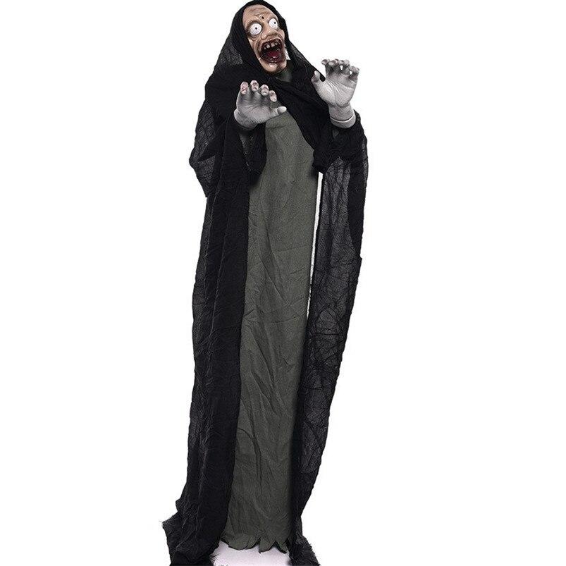 Effrayant décoration Halloween debout fantôme effrayant yeux jouets électriques Halloween fête décor poupée hantée Festival fournitures accessoires