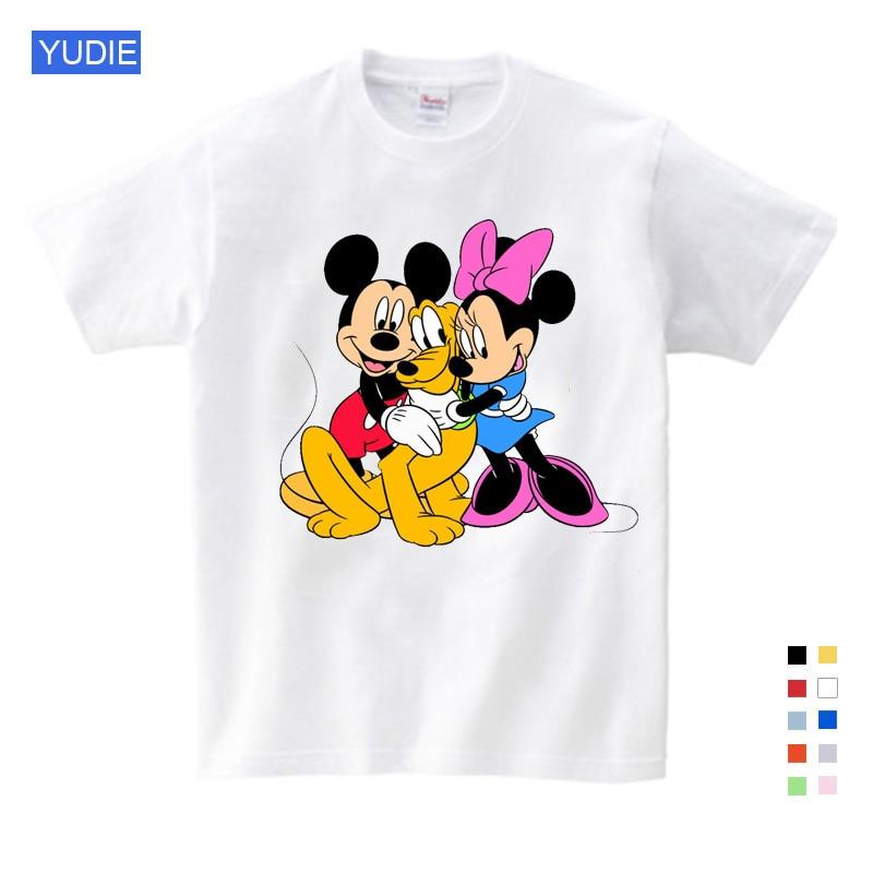 2019 crianças Dos Desenhos Animados Mickey crianças T camisas de manga curta rato T-shirt Donald Bebê/menino/menina t camisa do verão o-pescoço camisa 2-15Y