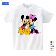 2019 Cartoon children Mickey kids T shirts mouse short sleeve T-shirt Donald Baby / boy / girl t summer shirt o-Neck shirt 2-15Y donald weis t t solo rules