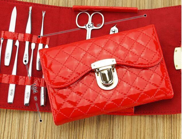 nail set leather case