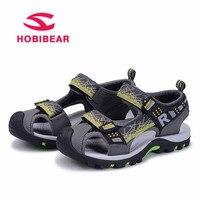 HOBIBEAR 2018 Summer Children Sandals Kids Shoes For Boys Close Toe Soft Anti Slip Sandals Beach