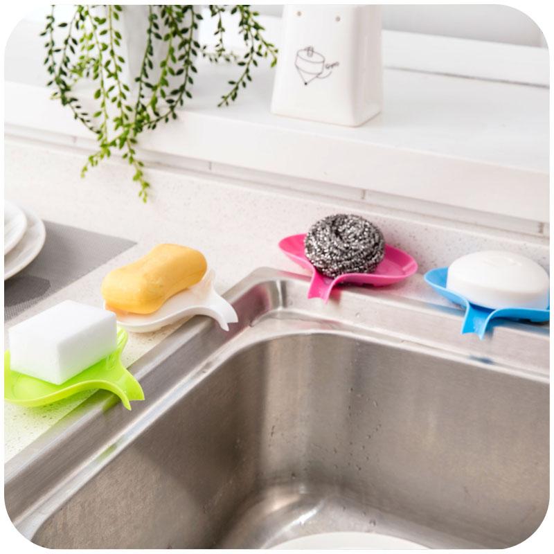 Soap Dish Holder Kitchen Bathroom Accessories Storage Box Tray ...