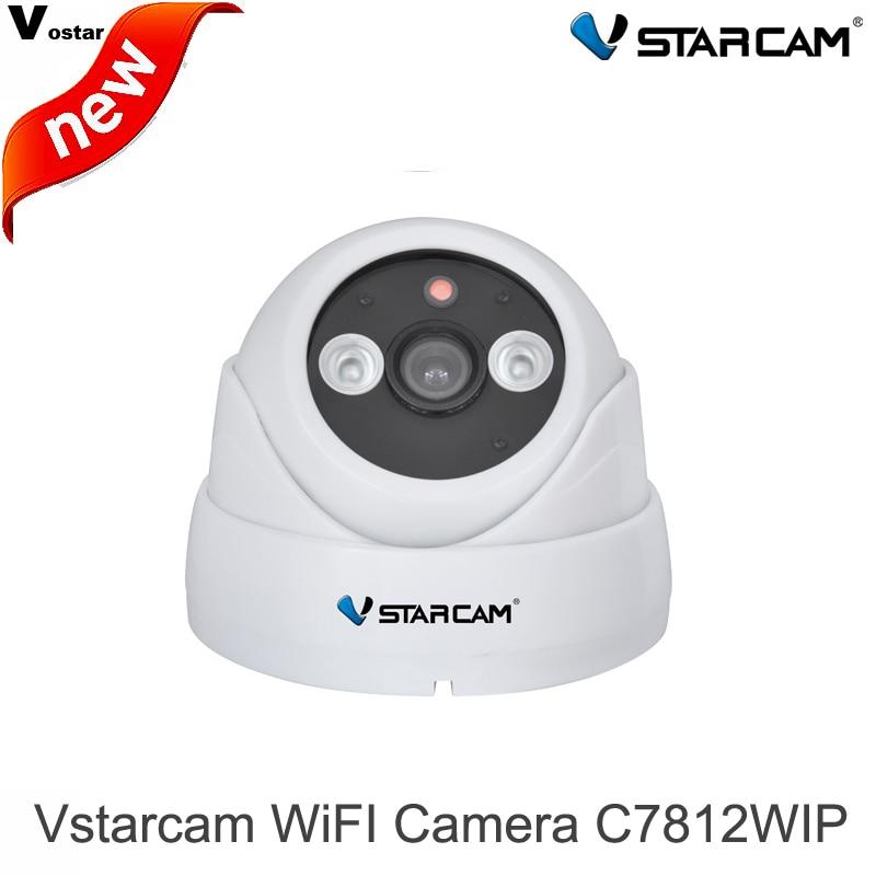 ФОТО VStarcam 720p C7812WIP Mini Dome Wifi IP Camera ONVIF IR Cut 15m Wireless Indoor Cameras Plug&Play Security Cameras