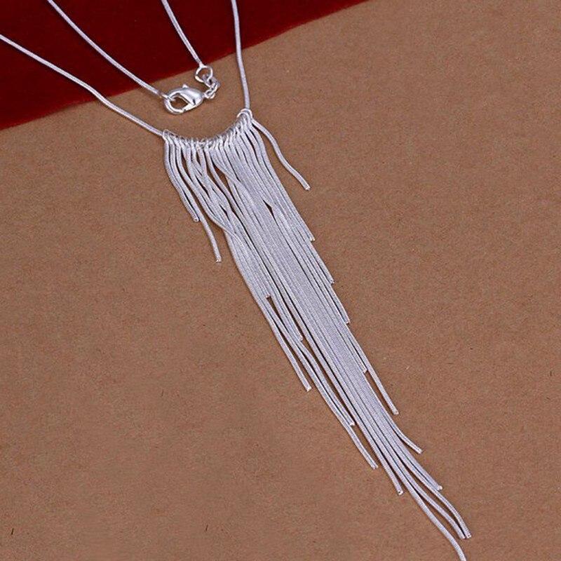 Silver Necklace Pendant,925 jewelry silver plated Necklace Wicker Necklace N026 ZZJDLMFS AUTXRXAP