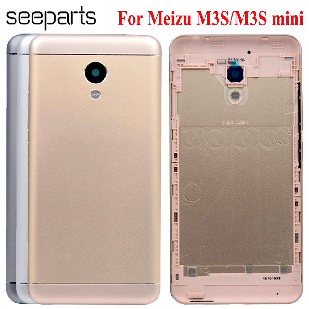 Meizu M3s Mini 5.0 Inch New Metal Cover Case Meizu M3s Mini Back Battery Cover Housing Replacement Parts M3s