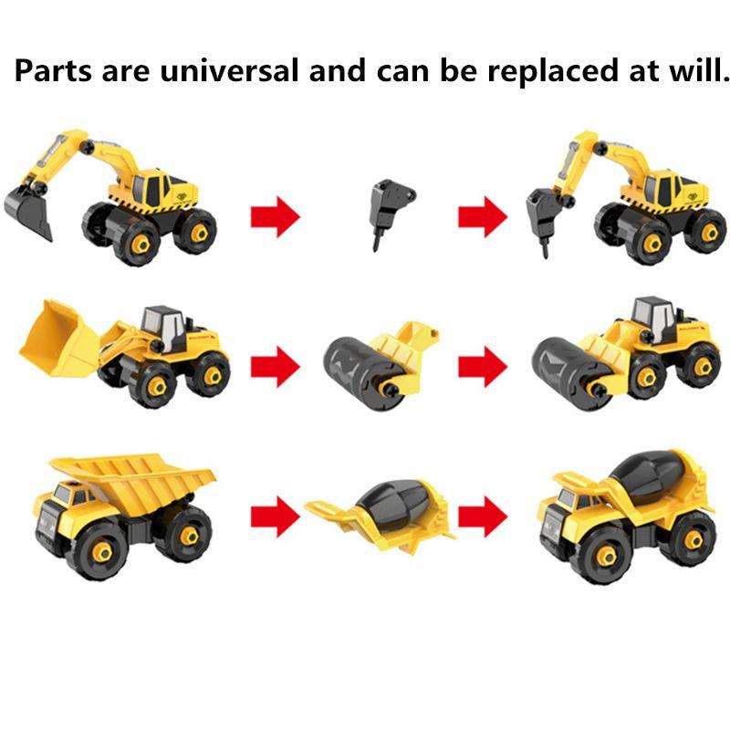 Разборка сборки инженерный автомобиль трактор игрушка игрушечная модель грузовика транспортных средств строительный блок детская игрушк...