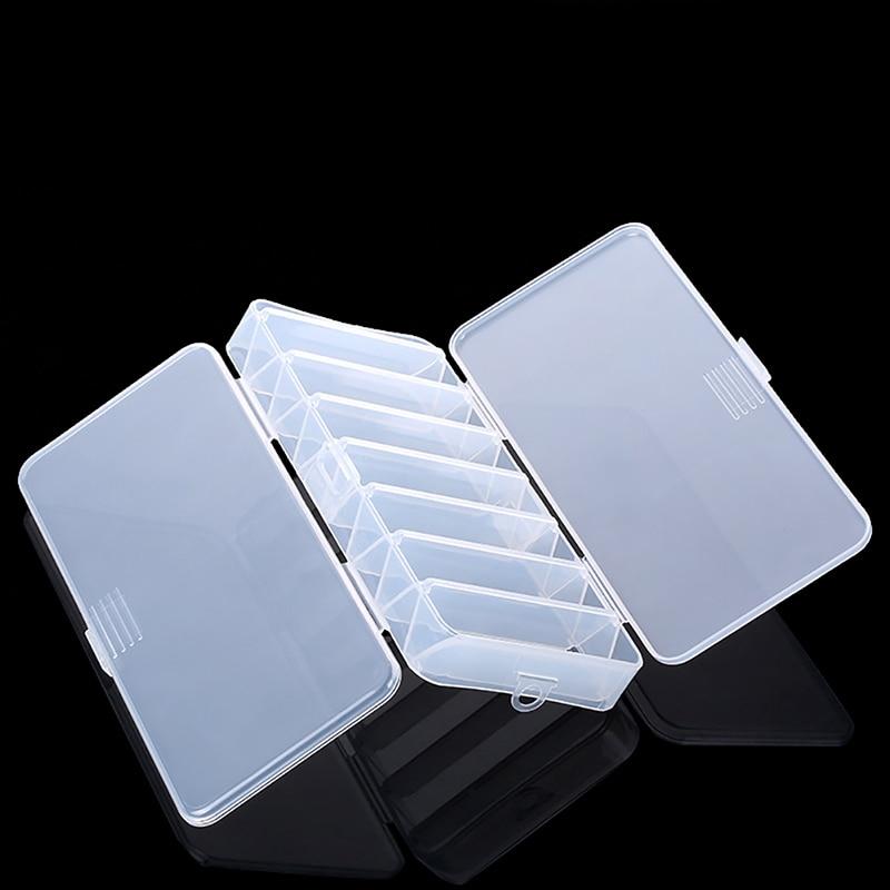 डबल साइडेड स्पिनर प्लास्टिक फिश लैट्स बैट हार्ड केस मल्टी-फंक्शन फ्लाई फिशिंग टैकल बॉक्स स्टोरेज टूल