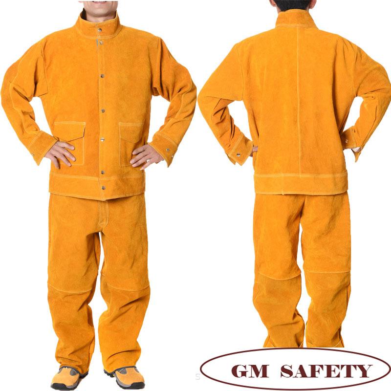 Conjunto de chaqueta y pantalon poteccion para soldador