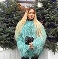 "Women""s Luxury Real Lamb Fur Coats and jackets Fall /  Winter  natural Beach sheep Fur coats outerwear female Fur coats"