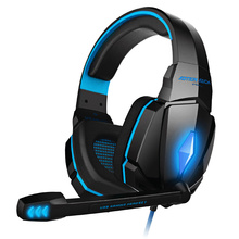 KOTION EACH Gaming Headset Headphones Deep Bass Stereo PC wired Earphone Microphone with backlit for PS4 phone Laptop Tablet salar kx101 gaming headset wired headphones deep bass earphone headband stereo sound with microphone for pc gamer