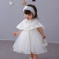 3 Adet Suit Prenses Inciler Bebek Kız Parti Elbise Törenleri 1 Yıl Doğum Günü Vaftiz Gelinlik Dantel Shwal FrockS Bandı