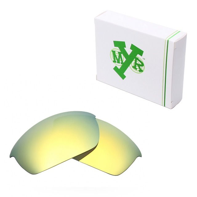 MRY POLARIZED Replacement Lenses for Oakley Flak Jacket Sunglasses 24K Gold