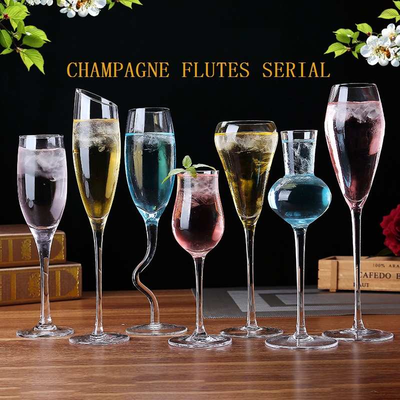 Us 11 05 7 Off Champagne Flutes Serial Lead Free Crystal Red Wine Gles Tail Gl Goblet Lover Birthday Gifts Cup In Other From Home