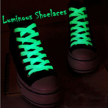 1pair  Luminous Glow In The Dark Shoelace Athletic Sport Sneaker Shoe Laces Strings