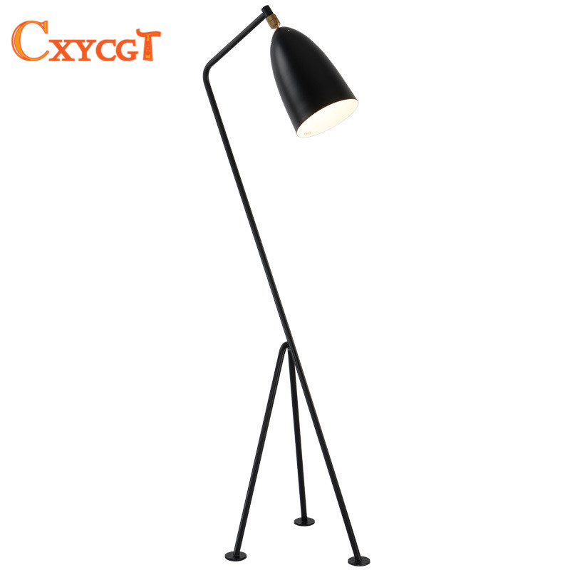 quality design 258f7 8af21 US $222.29 55% OFF|Simple modern E27 LED floor lamp for living room sofa  light balcony a lighting personality Three legged vertical light fashion-in  ...