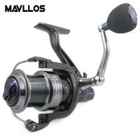 Mavllos Slow Jigging Reel 14BB Speed Ratio 5.2:1 Max Drag 25KG Waterproof Large Line Capacity Long Shots Boat Fishing Reel