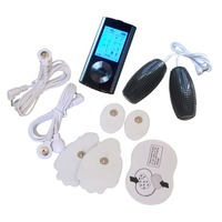 New Low Frequency Dual Electric Tens Pulse Therapy Massager Back Pain Relief Muscle Stimulator Digital Screen With Hand Massager