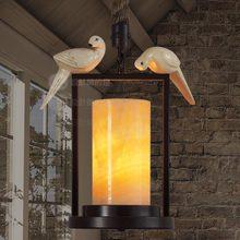 Подвесные Светильники ветер свет промышленный дизайнер в стиле кантри мрамор кофе Европейский ресторан конопли птицы мраморный WSS32S