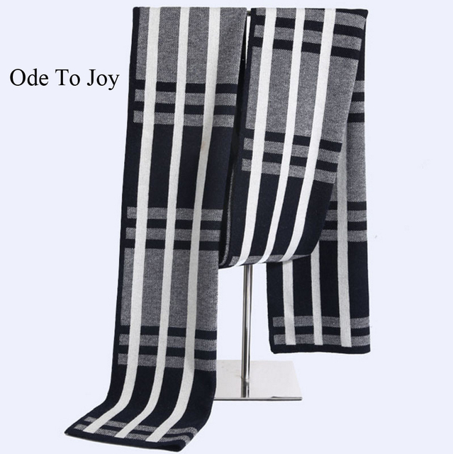 [Ода К Радости] новый стиль мужская полосатый с длинными полушерстяные шарфы бизнес мужчины вязаный шарф на осень зима сгущать платки