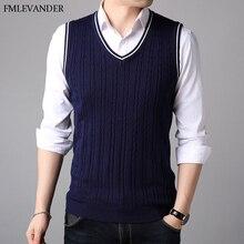 Зима Осень Весна деловые свитера кардиганы без рукавов жилет свитер для мужчин