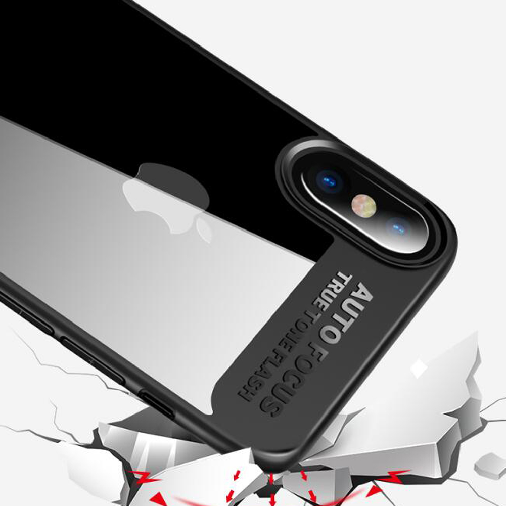 Jetjoy Luxury Hybrid Clear 360 Degree Shockproof Silicone+Acrylic Armor Case Cover For Apple iPhone X Ten Capa Coque