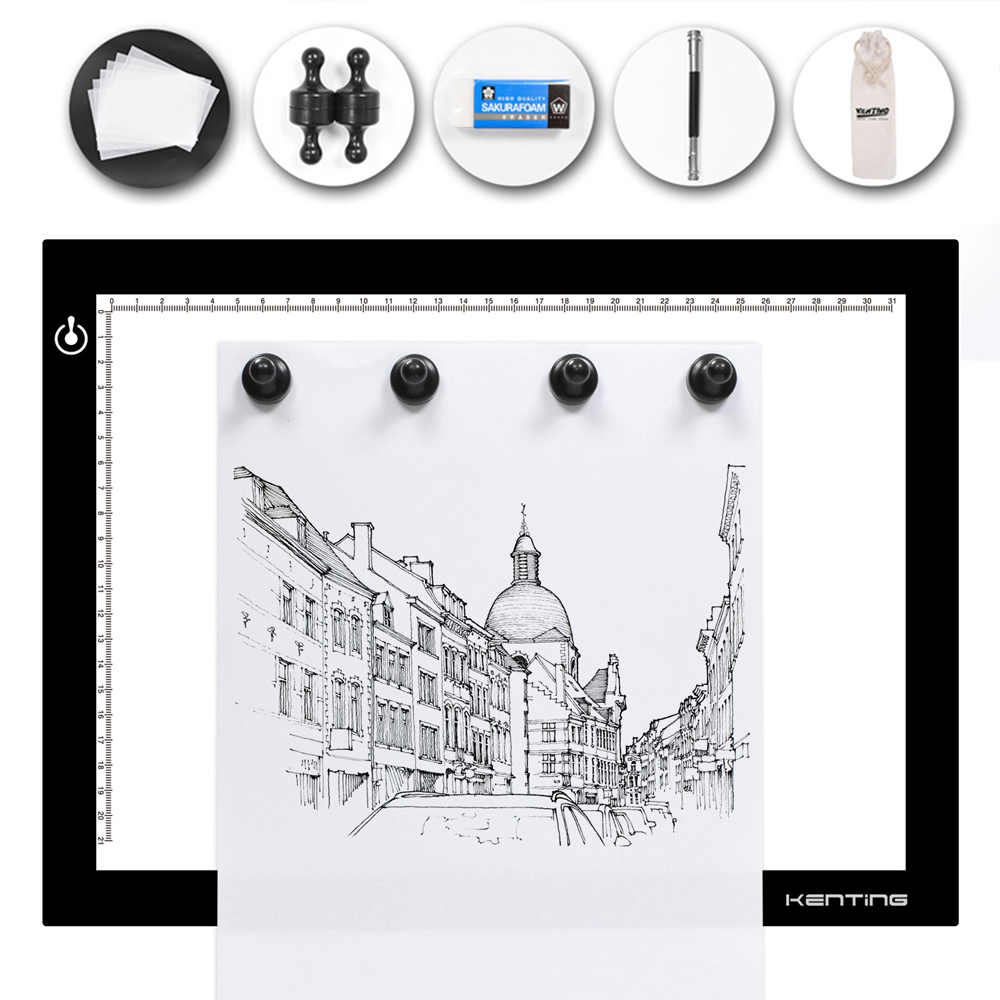 Magnetic K4M Adjustable LED Light Box Kenting Copy Tracing Board Pads Digital Drawing Tablet USB Powered for Animation SketchingMagnetic K4M Adjustable LED Light Box Kenting Copy Tracing Board Pads Digital Drawing Tablet USB Powered for Animation Sketching