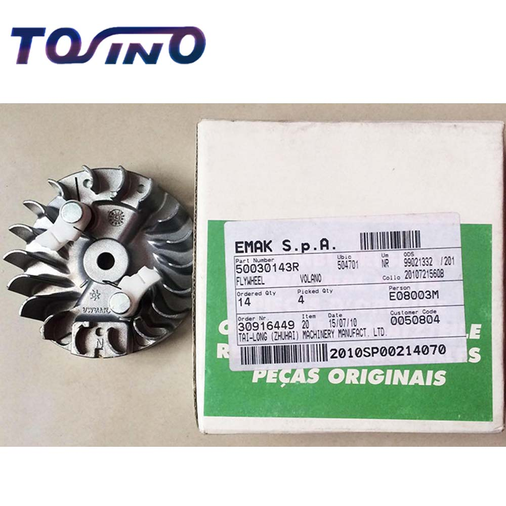 FREE SHIPPING GENUINE FLYWHEEL FITS FOR OLEO-MAC 932C CHAINSAW SPARE PARTS 50030143R genuine 7t oleo mac sprocket bearing clutch drum fits for oleo mac 941cx chainsaw spare parts 50060033a