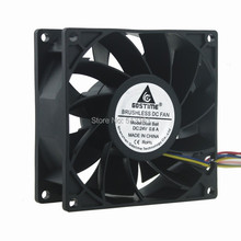 10Pcs Gdstime 24V 4Pin PWM 9238 92*92*38MM Waterproof 90MM Ball Comptuter Case Cooling Server Fan delta pfr0912xhe 9cm 90mm 4 5a 90 90 38mm dc 12v server extensions machine cooling fan