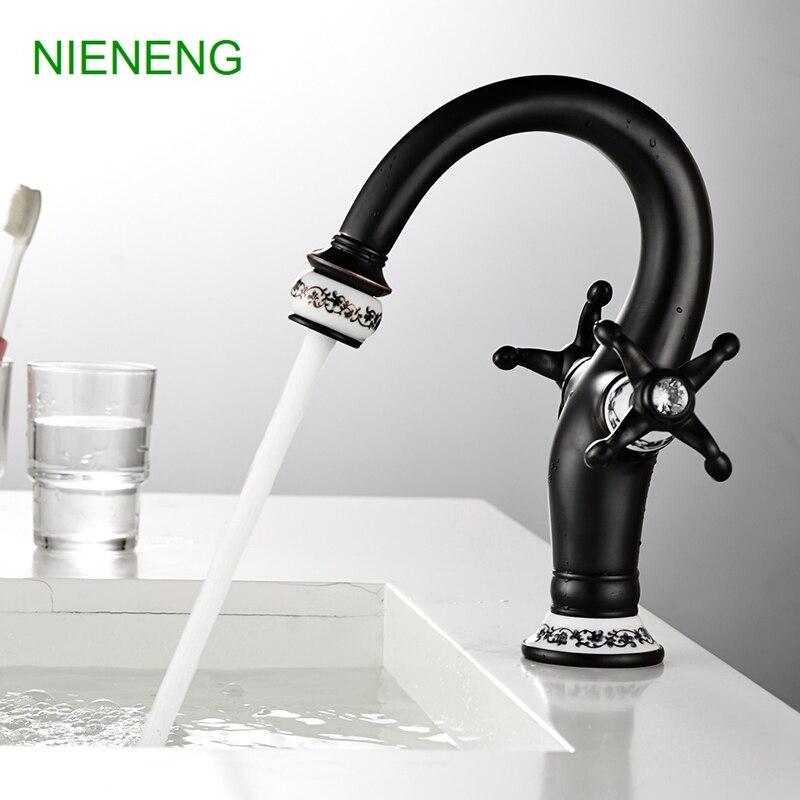nieneng retro lavabo rubinetti rubinetto del bagno lavandino rubinetti del bagno miscelatore acqua di rubinetto in