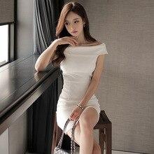 White Off Shoulder Bodycon Mini Dress SF