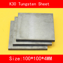 4*100*100mm Tungsten Sheet Grade K30 YG8 44A K1 VC1 H10F HX G3 THR W Plate ISO Certificate