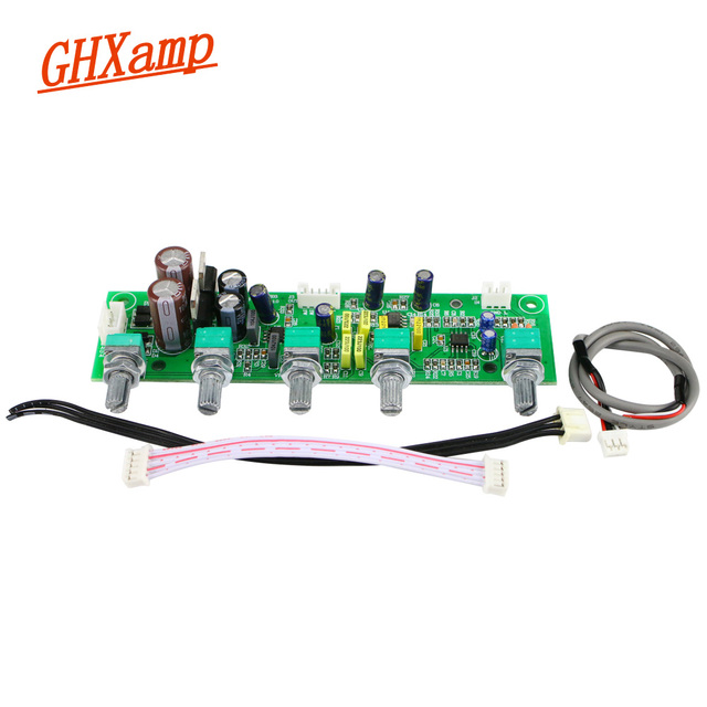 GHXAMP NE5532 Subwoofer Voorversterker 2.1 Voorversterker Toon Boord Treble Bass Ultra lage frequentie Onafhankelijke Aanpassing Dual AC12V 1 pc