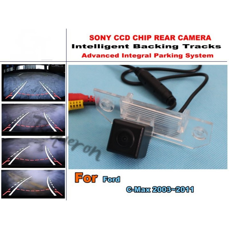 For Ford C-Max C Max 2003~2011 Trajectory Intelligent Car Tracks Parking Assistance CCD HD Night Vision Rear View Camera