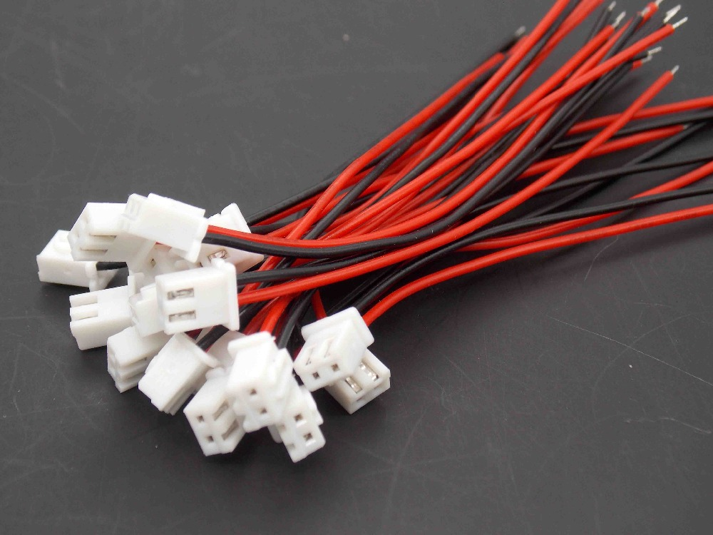 20PCS XH2.54-2P With Wire Leader / Adapter / Connector / Joint / Jack / With Long Straight Needle