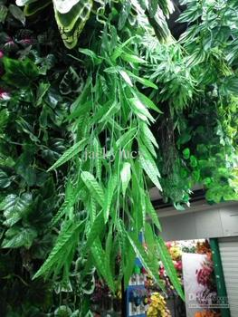 180 Meter Artificial Green Willow Simulation Silk Willow Leaf Flower Vine for Home Decoration FREE SHIPPING