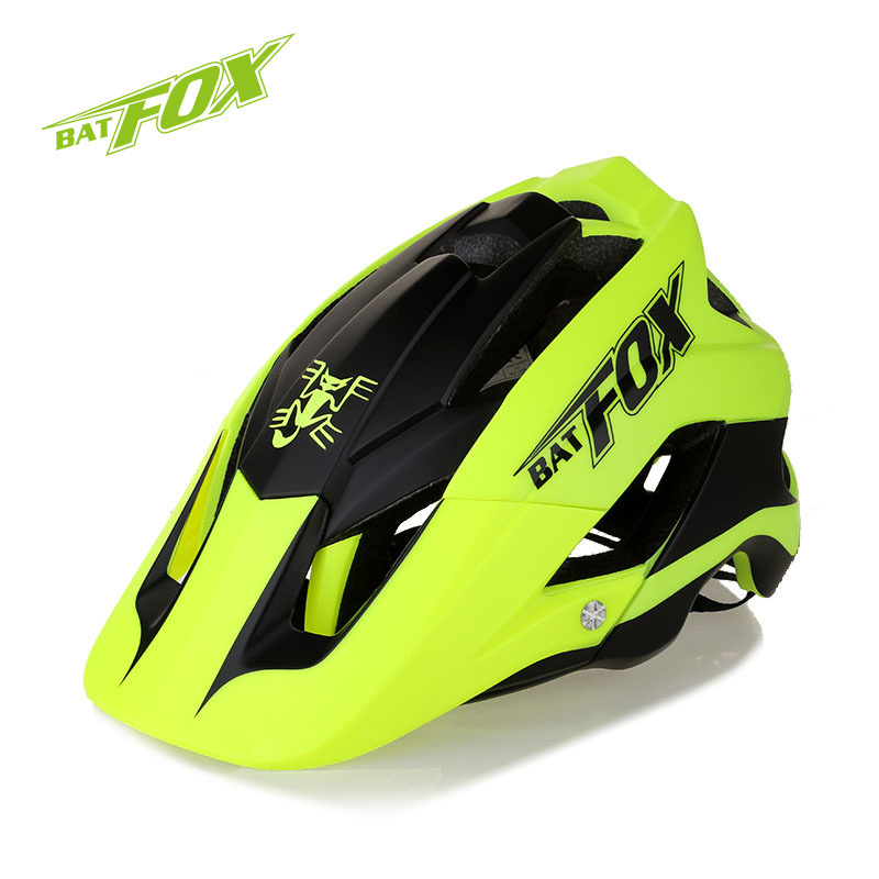 BATFOX Men Women Cycling Helmet Bike Ultralight Helmet Intergrally-molded MTB Road Bicycle Safety Helmet casco ciclismo 56-63CM batfox cycling helmet road mountain cycle helmet integrally molded mtb bicycle helmet ultralight bike helmet casco ciclismo