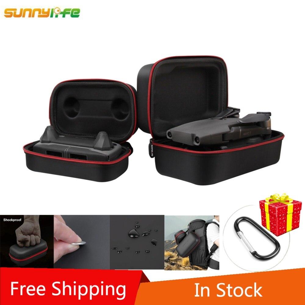 SUNNYLIFE Hard Shell Lagerung Tasche Fall Tragbare Rumpf Fernbedienung Pack für DJI MAVIC 2 PRO/MAVIC 2 ZOOM drone Freies Shiiping