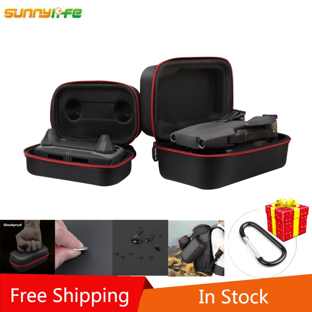 SUNNYLIFE Shell duro bolsa de almacenamiento portátil de fuselaje de Control remoto paquete para DJI MAVIC 2 PRO/MAVIC 2 ZOOM drone envío gratis
