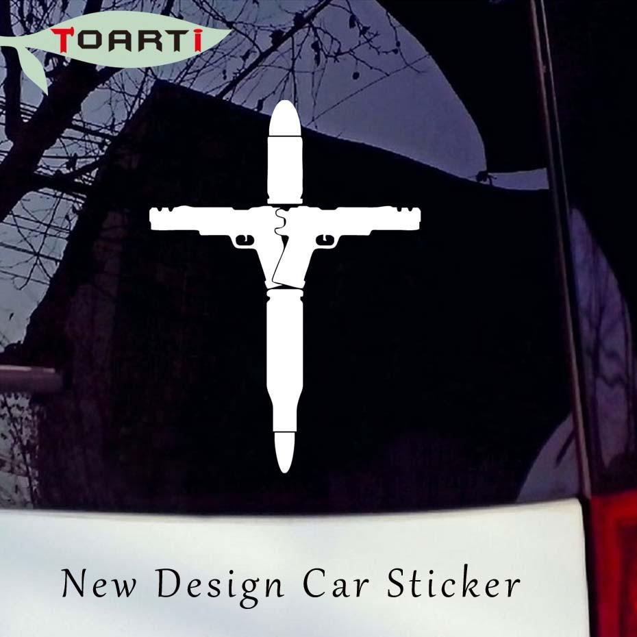 1419cm gun bullet cross vinyl decal car sticker art design waterproof car styling window