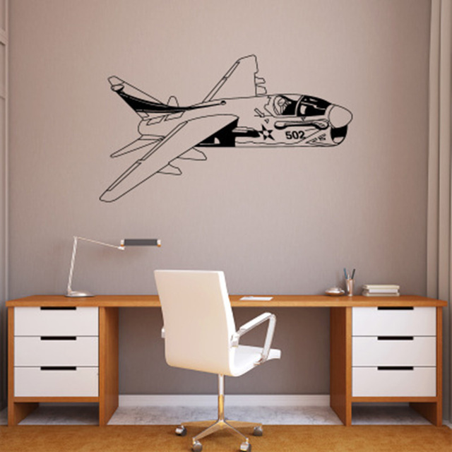 Creative Airplane Wall Stickers Living Room Bedroom Wallpaper Poster Art  Home Decor Dinging Room Boys Room